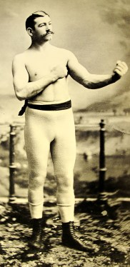 Bare-knuckle boxer John Lawrence Sullivan.