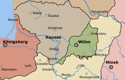 Położenie Litwy Środkowej