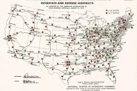 file interstate highway plan august 14, 1957