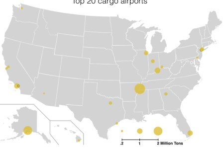 list of largest cargo airports in the united states