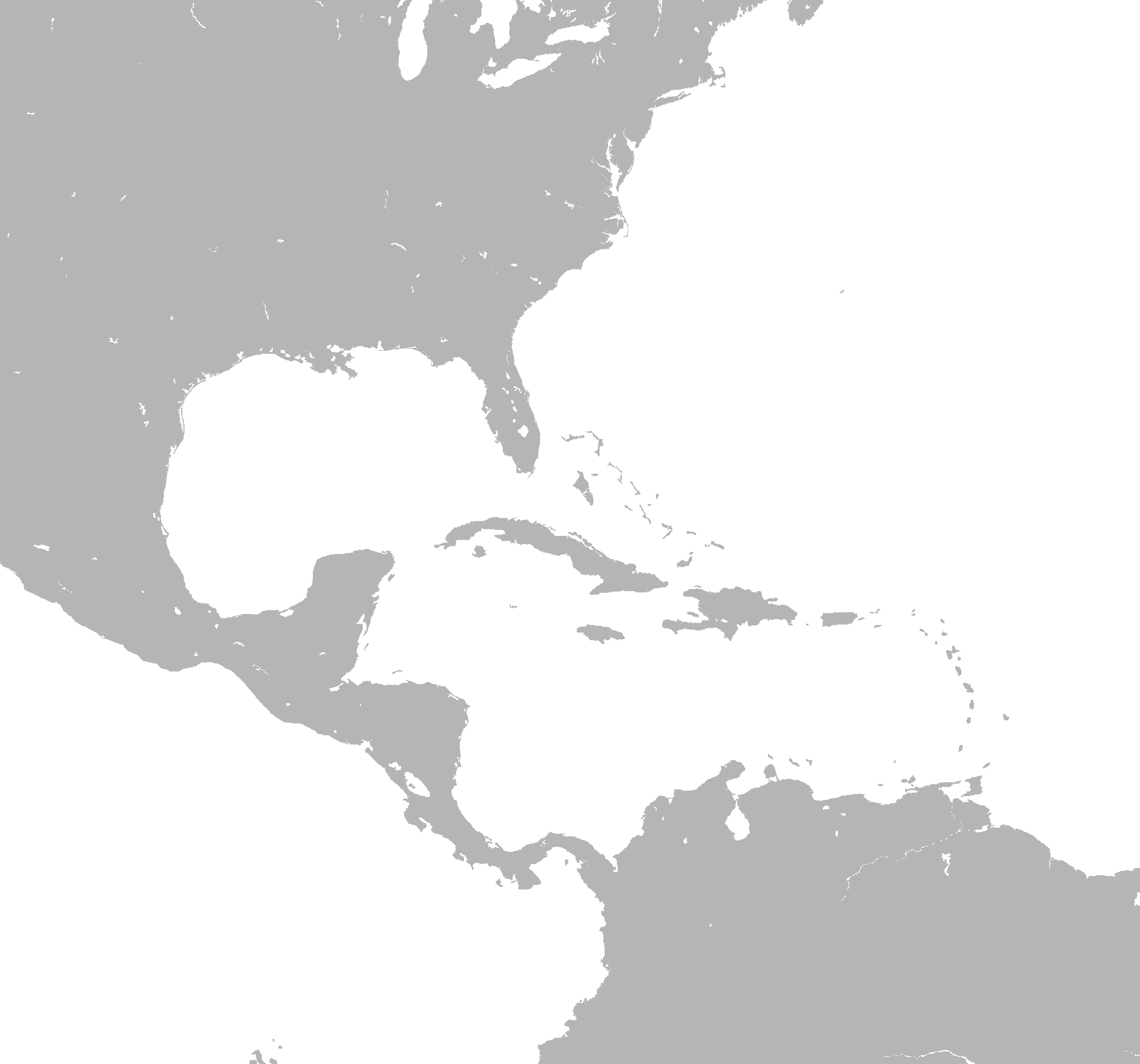 File Caribbean map blank png   Wikipedia File Caribbean map blank png