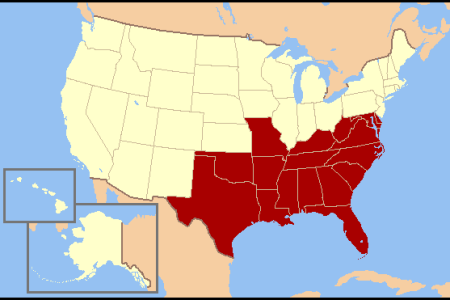 us southern states mappng