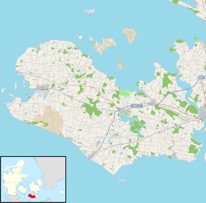 map showing denmark