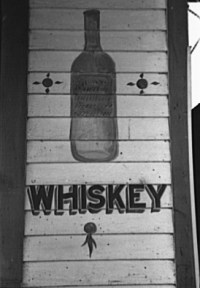 """Whiskey"" sign, Jeanerette, Louisian..."