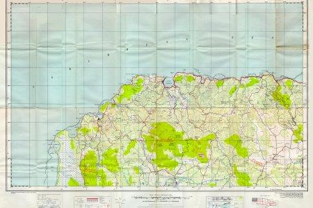 doos 1 to 50000 map of jamaica sheet a (lucea) 1959