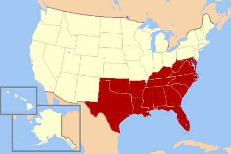 southern united states wikipedia