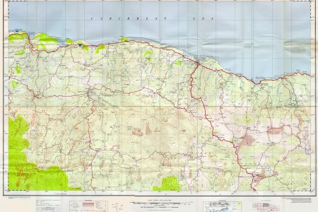 doos 1 to 50000 map of jamaica sheet f %28st ann%27s bay moneague%29 1958