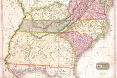 1818 pinkerton map of the southeastern united states carolina georgia ia geographicus usasouthernpart