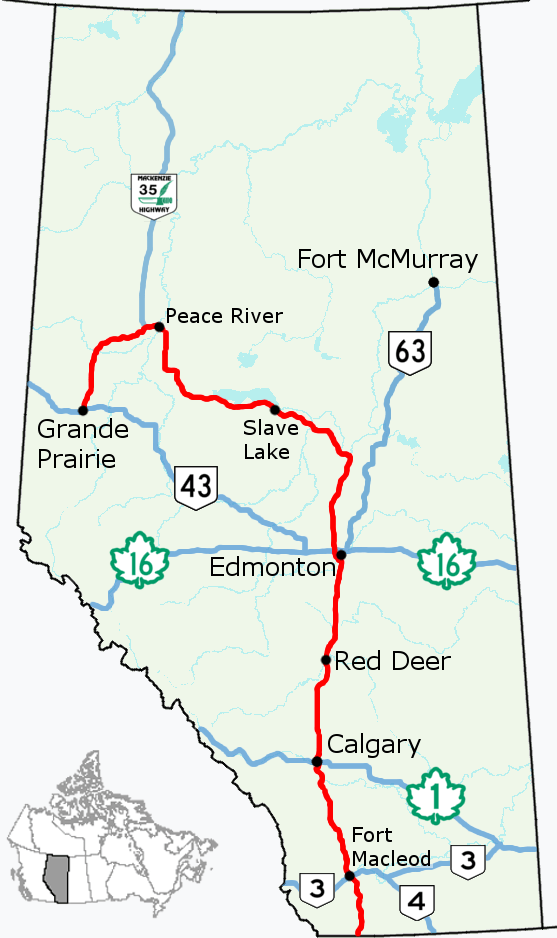 map to alberta