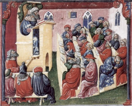 education: lectures in medieval times