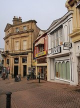 Shops in Torquay The foot of The Terrace, with...