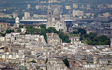 Stade de France   Wikipedia Stade de France visible from central Paris behind the Sacr     C    ur