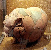 piggy bank pottery from majapahit