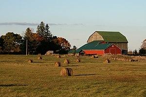 English: Barn in Rural Ontario, Canada. França...