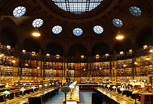 Paris   Wikipedia Richelieu reading room  National Library of France
