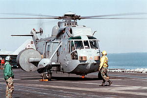 A Westland Sea King AEW.2A AEW-helicopter from...