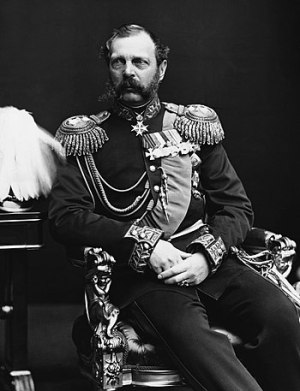 English: Photo of Russian emperor Alexander II...