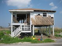 A home in Louisiana damaged by Hurricane Katrina