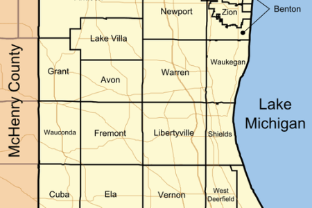 512px map of lake county illinois showing townships