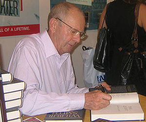Best selling novelist Wilbur Smith signs The Q...