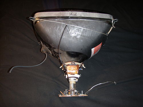 Rear view of a cathode ray tube
