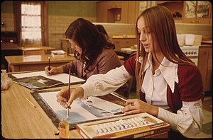 ART CLASS STUDENTS AT CATHEDRAL SENIOR HIGH SC...