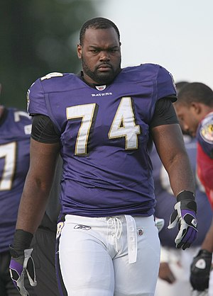 Michael Oher at Baltimore Ravens Training Camp...
