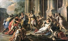 Mura, Francesco de - Horatius Slaying His Sister after the Defeat of the Curiatii - c. 1760