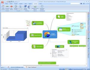 Screenshot of MindManager 8 software