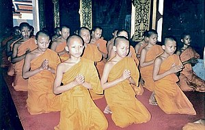 300px Novitiate faculty in the Buddhism is prayying How Were Teaching Buddhism To Our Kids.