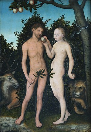 Lucas Cranach the Elder (1472-1553): Adam and ...