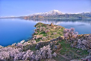 The Akhtamar Island in Lake Van with the 10th ...