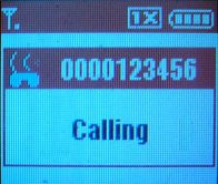 The caller ID information is masked when a Sky...