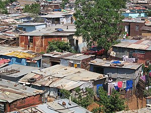 English: A shanty town in Soweto, South Africa.
