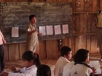Teacher in primary school in northern Laos
