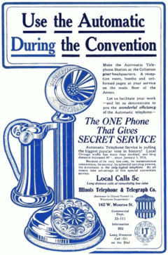 Advertisement for the automatic (dial) telepho...