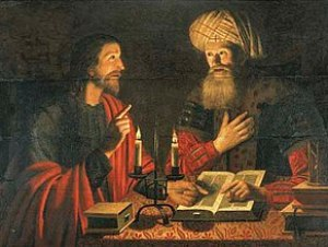 Christ talking with Nicodemus at night (Christ...