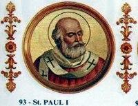 Papa Paulo I–História virtual