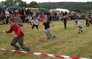 Children's egg &amp; spoon race, Hebden Sports Day...