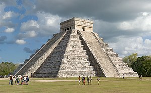 Mesoamerican step-pyramid nicknamed El Castell...