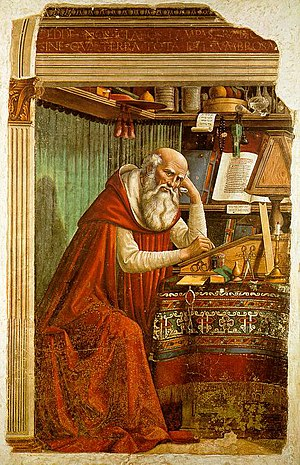 St. Jerome an important medieval religious fig...
