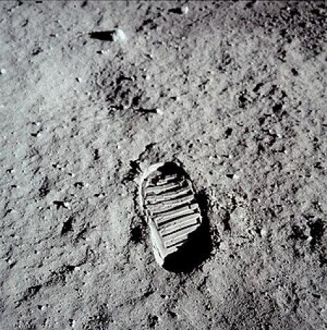 Footprint of Buzz Aldrin on the Moon