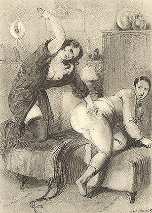 mature strict women spanking men