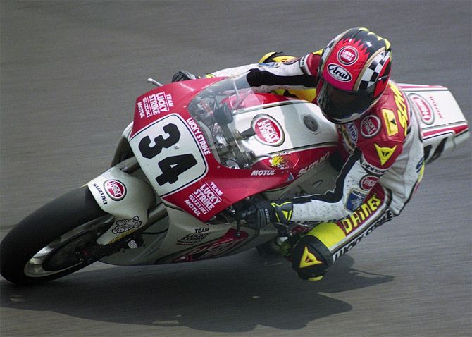 English: Kevin Schwantz, in Japan Grand Prix 1...