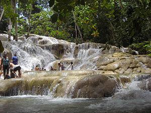 Dunns River Falls, Ocho Rios, Jamaica Español:...