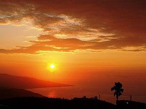 Sunrise over the south beach of Jamaica.