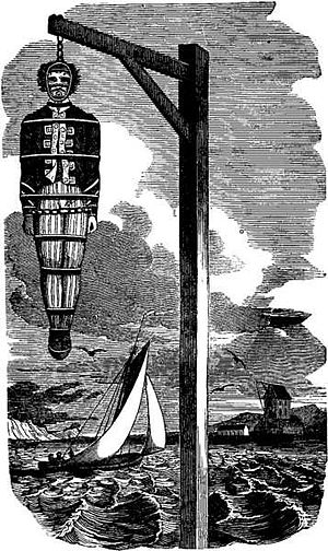English: Hanging of William Kidd