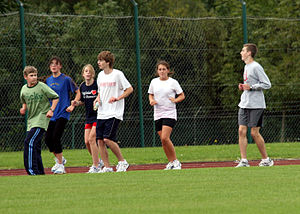 Backwards running - one of our team building a...