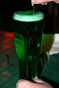Green beer on St. Patrick's Day