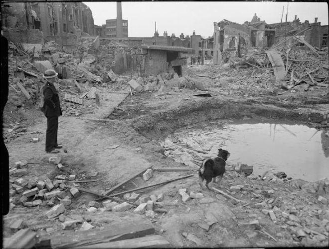 File:Air Raid Precautions Dog at work in Poplar, London, England, 1941 D5950.jpg